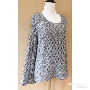 Timeless Michael Kors Wool Blend Cableknit Sweater